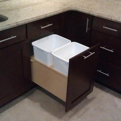 Creative Cabinet Features - Trashcan pull out.