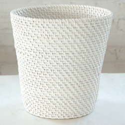 LaMont Rt4300150 Cayman Wastebasket, White - I love this stylish wastebasket. It could double as towel storage or even hold those stuffies that remind you of home.