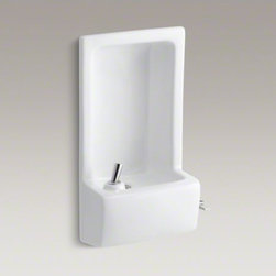 KOHLER - KOHLER Glenbrook(TM) semi-recessed drinking fountain - With its trim, semi-recessed design, the Glenbrook drinking fountain provides an ideal solution for high-traffic areas. Available in a palette of KOHLER colors to match any decor. This fountain offers durable performance suitable for users of all capabili