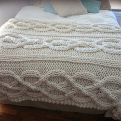 "Luxury Oversize Cable-knit Blanket by Ozark's Momma - Typically when I hear the phrase ""cable-knit,"" I automatically think of a cable-knit throw. This one exceeds all of my wildest cable-knit throw fantasies!"