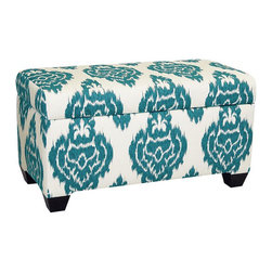 Skyline Furniture Upholstered Storage Bench - Free up some space in your closets by storing blankets and pillows in this roomy ottoman.
