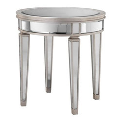 Round Mirror Accent Table - http://www.highfashionhome.com/round-mirror-accent-table.html