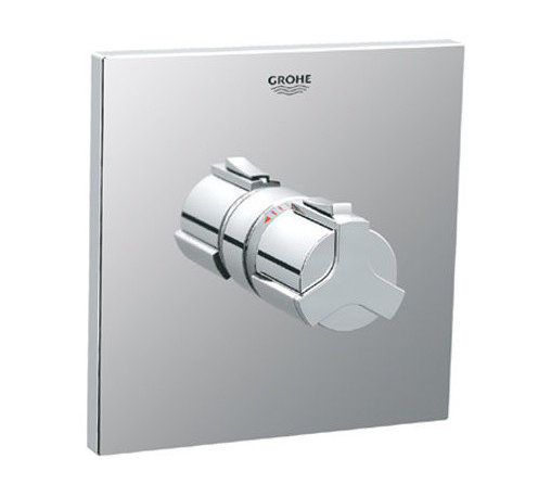 """Grohe - Grohe 19305000 Starlight Chrome Allure Allure Thermostatic Valve Trim - Product Features:Fully covered under Grohe s limited lifetime warrantyTrim constructed of brass - ensuring durability and providing aesthetic appealPremier finishing process - finishes will resist rusting and corrosion through every day useGrohe faucets are exclusively engineered in GermanyThe perfect synthesis of form and functionThermostatic valve cartridge with scald guardSecure mounting assemblyAll hardware required for installation is includedRough-in valve not included - when adding to cart valve options will be presentedProduct Technologies / Benefits:Starlight Finish: Continuously improving over the last 70 years GroheÂ's unique plating process has been refined to produce and immaculate shiny surface that is recognized as one of the best surface finishes the world over. Grohe plates sub layers of copper and/or nickel to ensure that a completely non-porous, immaculate surface awaits the chrome layer. This deep, even layered chrome surface creates a luminous and mirror like sheen.TurboStat: By increasing the sensitivity to the thermo element and restructuring the internal waterways, our thermostats react up to twice as fast to abrupt changes in water pressure, and are up to nine times more accurate than the leading competitors. The desired temperature is achieved in seconds and is maintained throughout the duration of your shower. The outstanding precision offered by the TurboStat technology also adds to your showers conservation of water.Valve Trim Specifications:Swinging temperature dial provides optimum controlPre-set safety stop with override capabilityEscutcheon (Trim Plate) Diameter: 7-3/16""""Rough-in valve sold separatelyDesigned for use with standard U.S. plumbing connections"""