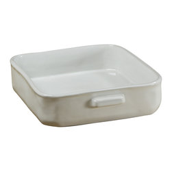 Montes Doggett - Handmade Rectangular Baker, Small - Well, this just might be the most stylish lasagna dish ever. You would impress any guests if you pulled a casserole from the oven in this beautifully handmade dish. It's microwave, oven and dishwasher safe and looks great on the table. This would make a great gift for anyone who likes to cook or bake.
