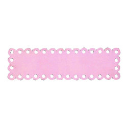 Jubilee Collection - Long Rectangle Dot Magnet Board - Pink - Material: metal. 8 x 28 in.