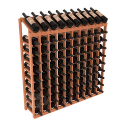 Wine Racks America - 100 Bottle Display Top Wine Rack in Redwood, (Unstained) - Make your top 10 vintages focal points of your cellar or store. Our wine cellar kits are constructed to industry-leading standards. You'll be satisfied. We guarantee it. Display top wine racks offer ample storage below a presentation row. Great as a stand alone unit or paired with other modular racks from our product lineup.