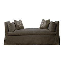 Curations Limited - Walterom Brown Linen Daybed Bench -