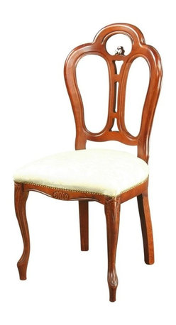 EuroLux Home - Consigned Large New Italian Rococo Dining Chair - Product Details