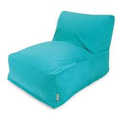 Majestic Home Goods - Teal Bean Bag Chair Lounger - Add style and functionality to your living room, family room or outdoor patio with the Majestic Home Goods bean bag chair lounger. This beanbag chair has the design of modern furniture, while still giving the comfort of a classic bean bag. Woven from outdoor treated polyester, these loungers have up to 1000 hours of U.V. protection and are able to withstand all of nature's elements. The beanbags are eco-friendly and feature a zippered slipcover. Spot clean slipcover with mild detergent and hang dry. Do not wash insert.