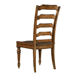 """Hooker Furniture - Hooker Furniture Tynecastle Ladderback Side Chair Set of 2 5323-75310 - Named for the Tynecastle area of Northern England, the 50-piece Tynecastle collection is inspired by the manor homes and equestrian life of the English countryside. Tynecastle combines classic Georgian architechural details with more rustic timber-frame elements and leather accents, creating a """"manor home to tack room"""" Hunt Country flavor."""