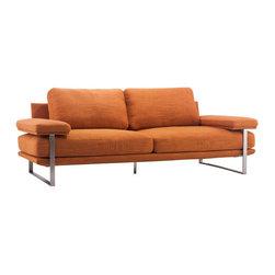 Zuo Modern - Jonkoping Sofa, Sunkist Orange - Jonkoping Sofa