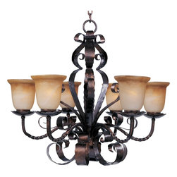 Maxim Lighting - Tuscan 6 Light Up Lighting ChandelierAspen Collection - Lighting your life since 1970, Maxim Lighting is committed to offering you outstanding quality and satisfaction.