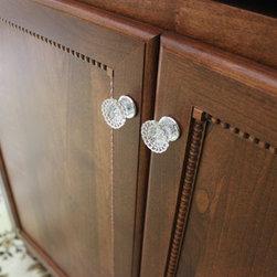 "Custom TV Cabinet - 39"" Custom TV cabinet in Alder wood with Cinnamon dull rubbed finish.  Door Style is Hillsboro with flat center panel and drop radius edge."