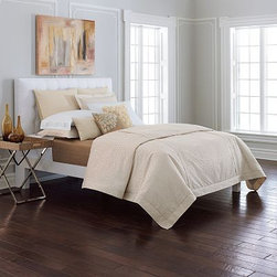 Simply Vera Vera Wang Chrysanthemum Bedding - Vera Wang's bedding is covered in subtle flowers, and the pale but warm palette creates an inviting place to lay your head.