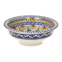 "Spanish Flower 10"" Majolica Ceramic Bowl - Spanish Flower 10"" Majolica Ceramic Bowl"