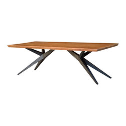 Sierra Living Concepts - Modern Rustic Spyder Loft Industrial Iron Base Solid Wood Dining Table - This Modern Rustic Spyder Loft Industrial Iron Base Solid Wood Dining Table is casual, rustic, durable, natural and everything you've come to expect from Sierra Living Concepts.