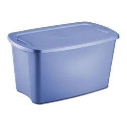 Sterilite - Sterilite 30 Gallon Tote Box, Blue (6 Pack) (18354306) - Sterilite 18354306 30 Gallon Tote Box, Blue (6 Pack)