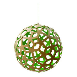 David Trubridge Coral 400 Pendant Lamp, Green