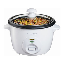 Hamilton Beach - 10 Cup Rice Cooker - This versatile Rice Cooker from Hamilton Beach cooks perfect rice every time. It automatically cooks every kind of rice then shifts to warm. Nonstick bowl and lid are dishwasher safe for fast, easy cleanup. Steaming basket, rice paddle and measuring container are included.