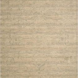 """Nourison - Nourison Silk Elements SKE29 2'5"""" x 10' Sand Rug - The Silk Elements Area Rug Collection by Nourison offers alluring designs and luminous color palettes; silk accents highlight key design elements creating an ethereal incandescence and a magnificent sophistication that are utterly inspired. Velvety soft fields and a luxuriously lush pile impart a heavenly look and feel; made with 90% New Zealand Wool/10% Silk."""