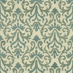 """Loloi Rugs - Loloi Rugs Taylor Collection - Ivory / Lt. Blue, 5'-0"""" x 7'-6"""" - The colors are vivid and the designs are beautiful, but what's really special about the Taylor Collection is its knobby, textural feel underfoot. That's because each Taylor rug is hand-hooked by skilled artisans in India to form a thick 100% wool pile. And with transitional designs ranging from trendy chevron patterns to fresh damasks, it's easy to find just the right style for your home."""