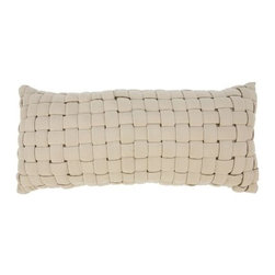 Hatteras Hammocks - Soft Weave Deluxe Hammock Pillow - Antique Beige - Like wicker-woven thatchworks of plush fabric ribbons, our inviting Soft Weave� Hammocks not only appear handsomely distinct, but with their 1-inch layer of polyester fiberfill batting, they also yield an uncanny level of cushiony comfort. The soft, all weather, solution-dyed fabric means many seasons of great-looking, great-feeling reclining ahead. Spreader bars are natural-finish South American cumaru, among the hardest, densest, prettiest woods on Earth, while hanging chains and hardware are zinc-plated steel, for an even further boost to these wholly uncommon hammocks' exceptional looks and outstanding weatherability. The Soft Weave� Deluxe hammock Pillow, sold separately, features the same striking crosshatch weave of padded fabric ribbons, but set atop a think cushion of polyester fiberfill batting.   Hammock and stand sold separately.