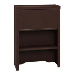 Bush Business - Bush Enterprise Lateral File Hutch (Mocha Che - Color: Mocha CherryCommercial grade. Lid-stay hinges stay open for easy access. Convenient charging station for portable devices. Work in process trays help keep work organized. Ample closed storage. Meets ANSI/BIFMA standards for safety performance. Warranty: 10 years. Made from furniture grade particle board. Minimal assembly required. 30 in. W x 12.16 in. D x 41.71 in. H (80 lbs.). Installation Guide