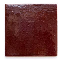 136 Victorian Red (Glossy Tile) - Handmade Ceramic Tile - Handmade Ceramic Tile