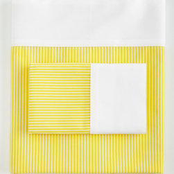 Ralph Lauren Home - Twin Flat Sheet - YELLOW (TWIN FLAT) - Ralph Lauren HomeTwin Flat SheetDetailsYarn-dyed striped cotton with white percale cuff.Machine wash.Imported.Designer Please note: items that are part of the Ralph Lauren Home Collection are not available at any discount and will be removed from our site during sale events.About Ralph Lauren Home:The first designer to create an all encompassing collection for the home Ralph Lauren Home debuted in 1983 and provides a comprehensive lifestyle experience featuring complete luxurious worlds. Whether inspired by timeless tradition or reflecting the utmost in modern sophistication each of the collections is distinguished by the enduring style and expert craftsmanship of Ralph Lauren. With creative vision and impeccable design Ralph Lauren Home offers both transporting seasonal collections and enduring classics. Inspiration is drawn from English country estates the natural tones and textures of the desert or the spirit of adventure embodied in Safari the romance of seaside living the faded florals and classic ticking stripes of American country or the sleek urban aesthetic of a city loft. The line includes bed and bath linens china crystal silver decorative accents and gifts as well as lighting and furniture.