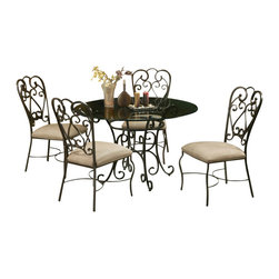Pastel Furniture - Pastel Furniture Magnolia Outdoor Casual Dining Set - Pastel Furniture - Dining Sets - VD5104819Ma1105PKG - The Pastel Furniture Magnolia casual dining set has a distinctive transitional style. An ideal way to update any dining or entertaining area in your home it features an intricate metal work backrest and gracefully curved legs. With a fashionable old world flair this dining chair will create a good impression for a long time to come!