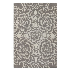 Chandra - Chandra Counterfeit Modern / Contemporary Hand Tufted Floral Rug X-60197-90281UO - Chandra Counterfeit Modern / Contemporary Hand Tufted Floral Rug X-60197-90281UOC