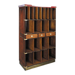 """Authentic Models - Authentic Models Honey Ritz Lobby Hotel Cabinet - Our Authentic Models Honey Ritz Lobby Bookcase stores novels, hats, handbags, gloves, travel gear, newspapers, and keys..... you name it, it proudly displays it !              * Dimensions:36.4 x 16.1 x 61.4"""""""