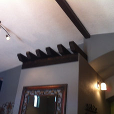 Tuscan style beam accents