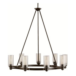 Kichler - Kichler Circolo 1 Tier Chandelier in Olde Bronze - Shown in picture: Kichler Chandelier 9Lt in Olde Bronze