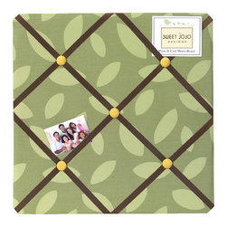 Sweet Jojo Designs - Jungle Time Memo Board - Jungle Time Memo Board will help complete the look of your Sweet Jojo Designs room. The plush handcrafted memo boards are great to add dimension and a splash of color to any nursery or child's bedroom. They can be used with your Sweet Jojo Designs Bedding or as an accent for your own room design.Dimensions: 14in. x 14in.