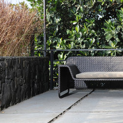 Lebello - Lebello Outdoor Club Sofa - SP Club MOD Sofa - The Club MOD SP split weave series designed by Lebello is a lightweight outdoor club chair and sofa. The split weave series features an elegant tight cross weaves on the seat and arm surface, while the backrest has an open weave. The companion sofa modular MOD SP series has an additional 8 modules which allows an endless configurations.