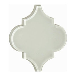 Arabesque- Glass- White Tulip Glossy - Sample - Arabesque- Glass- White Tulip Glossy- Sample