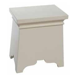 SOLD OUT!   White Square Wood Painted Side Table - $690 Est. Retail - $250 on Ch -