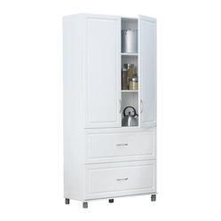 Drawer 2 Door Cabinet in White Aquaseal - Ameriwood - Storage Cabinets ...