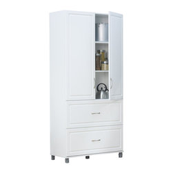 "Ameriwood - SystemBuild 36"" 2 Drawer 2 Door Cabinet in White Aquaseal - Ameriwood - Storage Cabinets - 7364401PCOM - When things need to be put in their place put them in SystemBuild storage items. These stylish yet practical items offer simple storage solutions for your bedroom kitchen laundry room living room garage or closet. Turn any room into convenient storage space. SystemBuild offers a wide variety of storage items that make life a little easier and a lot more organized."