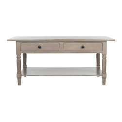 Safavieh - Boris Coffee Table - Vintage Grey - If you're looking for a vintage country or farmhouse feel, the Borris coffee table fits the bill. Crafted from pine, a wood prized for its humble and simple nature, Borris features a vintage grey finish to lend it a worn-to-perfection vibe.