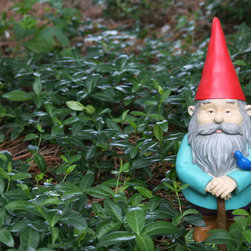 Watchful Gnome - Summer Fun Gnomes are colorful additions to your yard!  This guy will keep watch at your door, garden or patio!