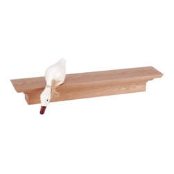 Renovators Supply - Shelves Natural Stain Oak Mantle Shelf 30'' W - Oak Mantle Shelf. Made of solid oak. Add a shelf anywhere to display framed photos or treasured collectibles. Easy to mount. Natural stain finish, Measures 4 in. H x 30 in. W x 6 in. proj.