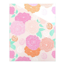 """Kess InHouse - Anneline Sophia """"Peonies Pink"""" Peach Teal Metal Luxe Panel (16"""" x 20"""") - Our luxe KESS InHouse art panels are the perfect addition to your super fab living room, dining room, bedroom or bathroom. Heck, we have customers that have them in their sunrooms. These items are the art equivalent to flat screens. They offer a bright splash of color in a sleek and elegant way. They are available in square and rectangle sizes. Comes with a shadow mount for an even sleeker finish. By infusing the dyes of the artwork directly onto specially coated metal panels, the artwork is extremely durable and will showcase the exceptional detail. Use them together to make large art installations or showcase them individually. Our KESS InHouse Art Panels will jump off your walls. We can't wait to see what our interior design savvy clients will come up with next."""