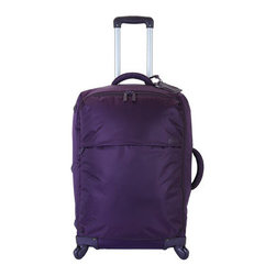 "Lipault - Lipault 25"" Trolley - Ingenious luggage collapses to easily store away in minimal space. In water-resistant 420 denier nylon twill. Select color when ordering. 22"" four-wheel trolley with telescopic handle and combination lock luggage tag, 14""W x 9""D x 22""T. 25"" four-w..."