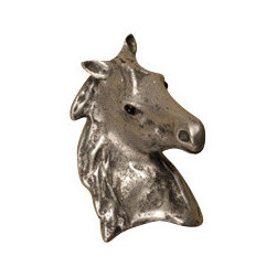 Anne at Home Hardware - Beauty Horse Cabinet Hardware - Celebrate your love of horses with this impressive pewter piece — available as a cabinet knob or a drawer pull. Customize your kitchen with distinctive horse-sense style.