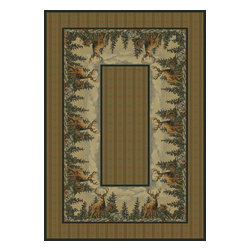 """United Weavers - Southwestern/Lodge Hautman 3'11""""x5'3"""" Rectangle Natural Area Rug - The Hautman area rug Collection offers an affordable assortment of Southwestern/Lodge stylings. Hautman features a blend of natural Natural color. Machine Made of Olefin the Hautman Collection is an intriguing compliment to any decor."""