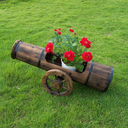 Free wheel flower planters - Free wheel outdoor flower planter made of Chinese with burn finish.