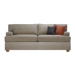 Nicholas No Skirt Luxe Queen Sleeper - This is a perfect neutral little sofa. I love the inset arms and the beautifully versatile upholstery. The sleeper element is just icing on the cake — and no one would ever know!
