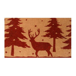 Momentum Mats Christmas Reindeer Coir and Vinyl Doormat - I always like to put out a Christmas doormat. It sets the tone for what your guests can expect when they walk through the door.